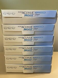ACVUE 1 Day Moist For Astigmatism 6 Boxes 3 Packs Per Box Contacts ACUVU