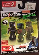 3D IT Character Teenage Mutant Ninja Turtles Creator Basic Refill 3 mini figures