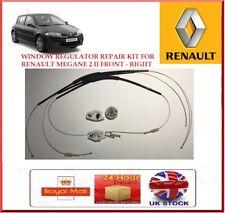 Window Regulator Repair Kit Set Front Right Fits Renault Megane 2 II 4/5 Door