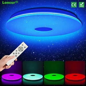 24W LED Deckenleuchte RGB Sternenhimmel Deckenlampe Dimmbar mit Fernbedienung