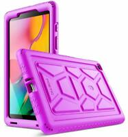 Galaxy Tab A 8.0 2019 Tablet Case Poetic Soft Silicone Protective Cover Purple