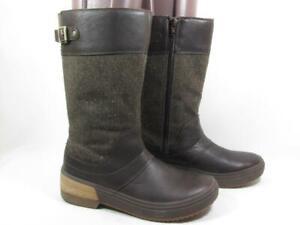 Merrell Haven Tall Buckle Waterproof Boot Women size 8 Brown