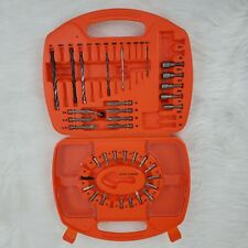 Black & Decker Magnetic Drill & Screw Bits Pieces FOR PARTS ONLY with Case