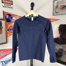 Ivivva Long Sleeve Athletic Shirt Blue Swiftly Girls Size 12