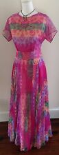 Rare Vintage 1970's Posh by Jay Anderson Boho Hippie Indian Festival Dress SZ 8