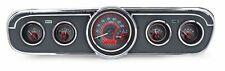 1965 1966 Ford Mustang Dash Gauges Instruments Dakota Digital VHX carbon/red