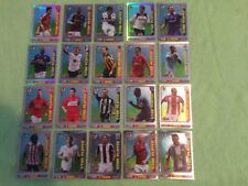 TOPPS TOTAL FOOTBALL  PREMIER LEAGUE 2009 COMPLETE SET 20 FOIL STAR PLAYERS MINT