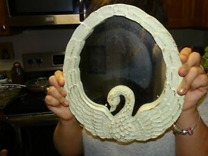 Antique look swan shape heavy Cast Iron Mirror Or Photo Frame