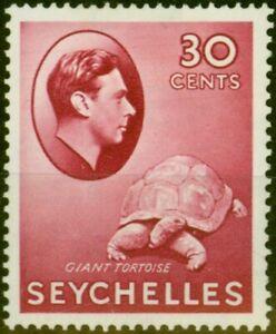 Seychelles 1938 30c Carmine SG142 Fine Lightly Mtd Mint