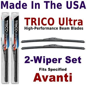 Buy American: TRICO Ultra 2-Wiper Blade Set fits listed Avanti: 13-15-15