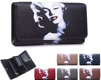 Ladies Marilyn Monroe Faux Leather Purse Wallet Clutch Bag - Boxed 04A-169