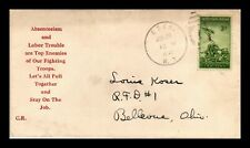 DR JIM STAMPS US PATRIOTIC WWII CACHET COVER EDEN NEW YORK 1945