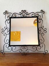 Miroir Soleil  carré Vintage époque Chaty vallauris An 50's   métal