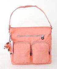 NWT Kipling Tasmo Crossbody Bag With Furry Monkey Pink Sherbert