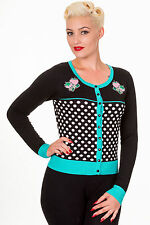 Waist Length Crew Neck Spotted Jumpers & Cardigans for Women