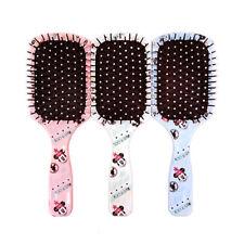 Disney MINNIE MOUSE Pink / White / Blue COLOR RANDOM Cushion Hair Brush Comb