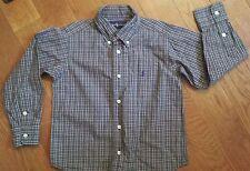 EUC Boy Size 4T Green Plaid Ralph Lauren Long Sleeve Buttondown Shirt