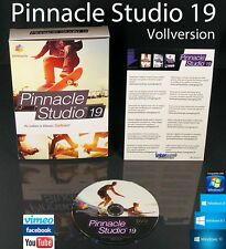 Pinnacle Studio 19 Vollversion Box + DVD Videosoftware + Handbuch (PDF) OVP NEU