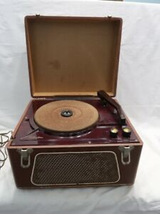 Vintage Silvertone Portable 3 Speed Record Player - Working & Sounds Great