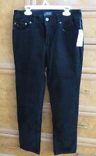 Boys Polo Ralph Lauren black Corduroy pants jeans size 16 brand new NWT $55