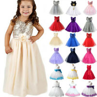 Flower Girl Kids Tulle Tutu Dress Princess Bridesmaid Wedding Party Pageant Gown