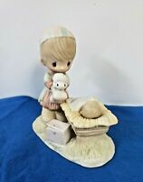 Precious Moments Figurine 1979 CHRISTMAS IS A TIME TO SHARE No production mark