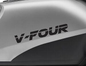 V FOUR motorbike bike logo decals CUSTOM COLOUR Vinyl Sticker. Upto 18cm w