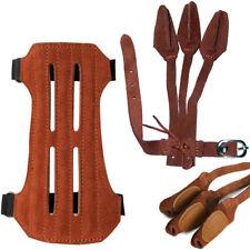 Echtleder Bogenschießen Armschutz Schießhandschuh  Bewachen Schützend Gear Braun