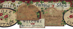 COUNTRY GARDEN SIGNS Wallpaper Border BY YORK