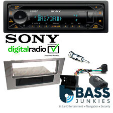 Ford Mondeo MK3 Sony DAB CD MP3 USB AUX & Bluetooth Car Stereo Grey Steering Kit