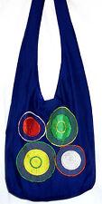 Sac Bandouliere Ethnique Sac à Main Coton Besace Ethnik Bag bleu blue