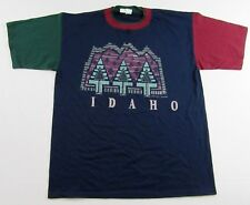 NWT Vintage '90's IDAHO Northwest US State Multi-Color Vacation T Shirt Size XL