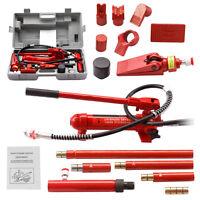 4 Ton Porta Power Hydraulic Jack Body Frame Repair Kit Auto Shop Tool Heavy Set