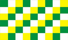 Green / White / Yellow Check Chequered Large Flag 5' x 3'