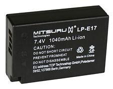 Mitsuru® 1040mAh batterie pour Canon EOS 760D M3, 9967B002AA LP-E17