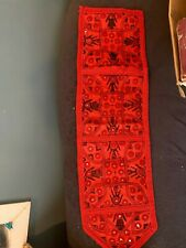 """Red embroidered mail hanger 27"""" x 7 1/2"""""""