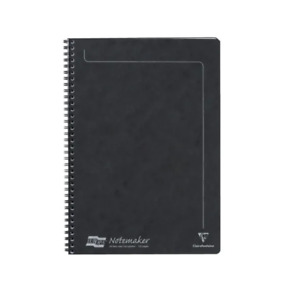 Europa GH14862 A4 Sidebound Notemaker, Black pk 10