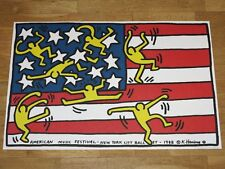 "KEITH HARING POSTER ""AMERICAN MUSIC FESTIVAL NEW YORK CITY BALLET 1988"" in MINT"