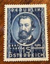 Austria 562 MH - Karl Millöcker - Composer / Music - 2020 CV $30!