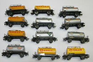 Märklin H0 45..12 Kesselwagen mit Blechboden Shell, Esso, Aral teils Bastelware