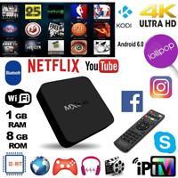 MXQ Android7.1 Quad Core 1+8G Smart TV Box 3G 1.2GHz WIFI Top 4Kx2K Media Player
