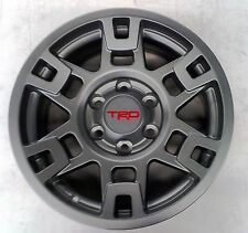 "🔥Toyota FJ Cruiser 2007-2014 TRD Pro SEMA 17"" MATTE GRAY Alloy Rims Set OEM 🔥"