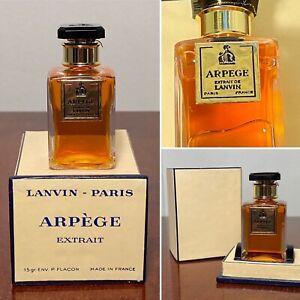 NEW Vintage Lanvin ARPEGE Pure Parfum Extrait .5 oz/15 mL in Presentation Box