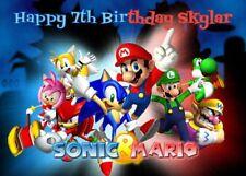 MARIO & SONIC Edible cake decoration topper sugar sheet image party birthday