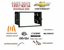 1997-2012 CHEVROLET MALIBU BLAZER S10 2 DIN CAR STEREO INSTALL DASH KIT, HARNESS