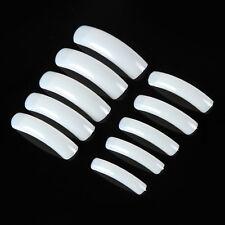 Pro 500PCS White/Clear/Natura False Acrylic Half Round Long Nail Tips Salon