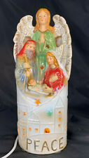"""Home Accents """"Wishes & Wonders"""" Lighted Ceramic Holy Family Christmas Decoration"""