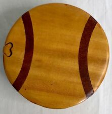 Softball Beautifully Hand Crafted Carved Wood Puzzle Jewelry/Trinket Box