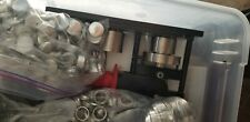 """1"""" inch Pin Badge Button Maker Machine+Graphic Punch+100 Buttons Parts Used"""