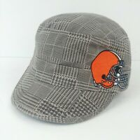 Cleveland Browns NFL Apparel Womens Cadet Military Hat Cap Adjustable Gray Clean